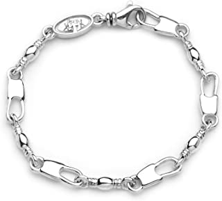 Lex /& Lu Sterling Silver 4mm Magic Herringbone Chain Necklace or Bracelet