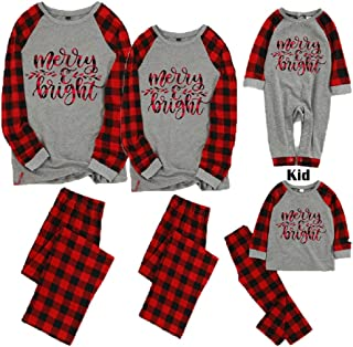 Christmas Family Matching Pajamas Sets for Dad Mom Kids Baby Xmas Sleepwear Parent-child Matching Loungewear
