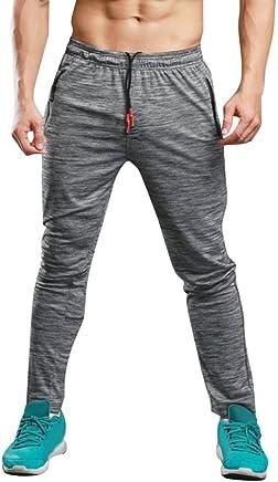 haoricu Men Sports Pants Gym Slim Fit Running Trousers Casual Tie Waist Yoga Jogger Pant