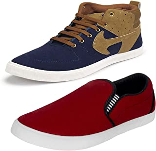 Earton Mens Stylish & Trendy Multicolor Combo Casual Sneakers Shoes (COMBO-790+1058-6_$p)