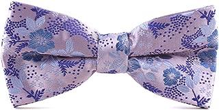 CityRaider Men's Bowtie Tuxedo Tie Jacquard Floral Pretied Bow Tie Great for Wedding,Groom,Groomsmen,Missions,Dances,Gifts