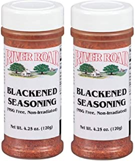 River Road No MSG Blackened Seasoning, 4.25 Ounce Shaker (Pack of 2)