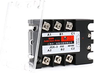 Baomain 3 Phase Solid State Relay JGX-48100A 3-32 VDC Input 480VAC 100 Amp Output DC/AC
