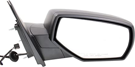 Kool Vue GM04ER Mirror for Silverado/Sierra 1500 14-17/2500 HD/3500 HD 15-17 Right Side Power Manual Folding Heated W/Blind Spot Glass All Cab Types Textured Black