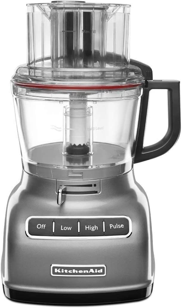 Amazon Com Kitchenaid Rkfp0930cu 9 Cup Food Processor With Exact Slice System Renewed Silver Kitchen Dining