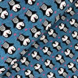Swafing GmbH Softshell Pinguine auf blau - Stoff -