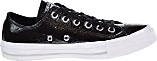 Converse Womens Chuck Taylor All Star Ox Black White Leather Trainers 8.5 US