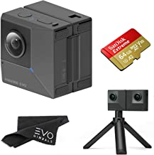 Insta360 EVO 3D 360 Hybrid VR Camera with 5.7K Video and 18MP Photos - Bundle Includes 64GB SanDisk Extreme microSDXC (2 Items) - Works with Oculus, Samsung Gear VR & Vive Focus
