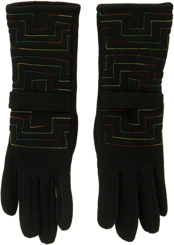 Jersey Geo Pattern Glove - Black