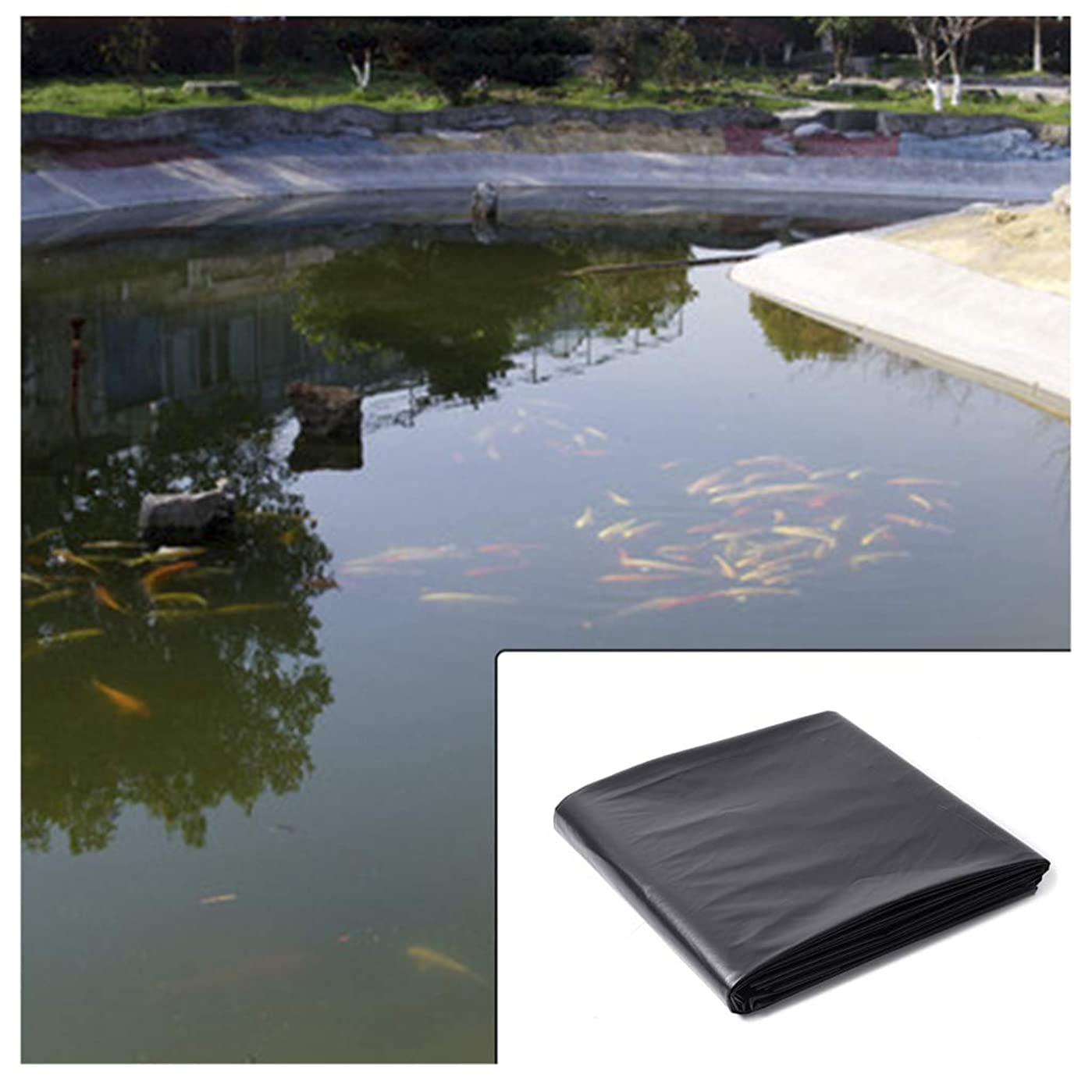 終了する膜ラックZYT 0.4 mm HDPE池の裏地、頑丈な美化ガーデンスイミングプール防水スイミングプール裏地布 (Size:4*4M)