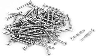 براغي لوني0167 الجديدة برأس غاطسة مسطحة من الفولاذ المقاوم للصدأ تتميز بفعالية. 100 قطعة (الهوية: 55c 28 c3 e75)