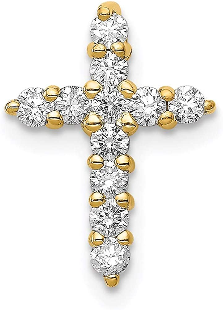 14k Diamond Denver Mall Cross Pendant style PM4950-033-Y Cheap mail order shopping Mounting