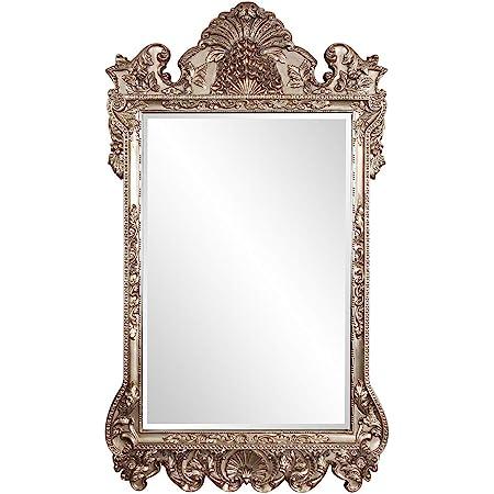 "Howard Elliott Marquette Antique Oversized Mirror, Leaning Wall Ornate Mirror, Full Length, Silver Leaf, 49"" x 84"" x 3"""