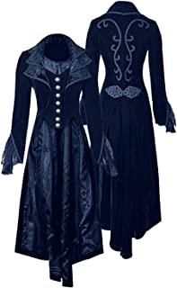 87a65b8a4bb SIAEAMRG Women s Gothic Steampunk Vintage Tailcoat Victorian Frock Jacket  Coat Uniform Halloween Costume