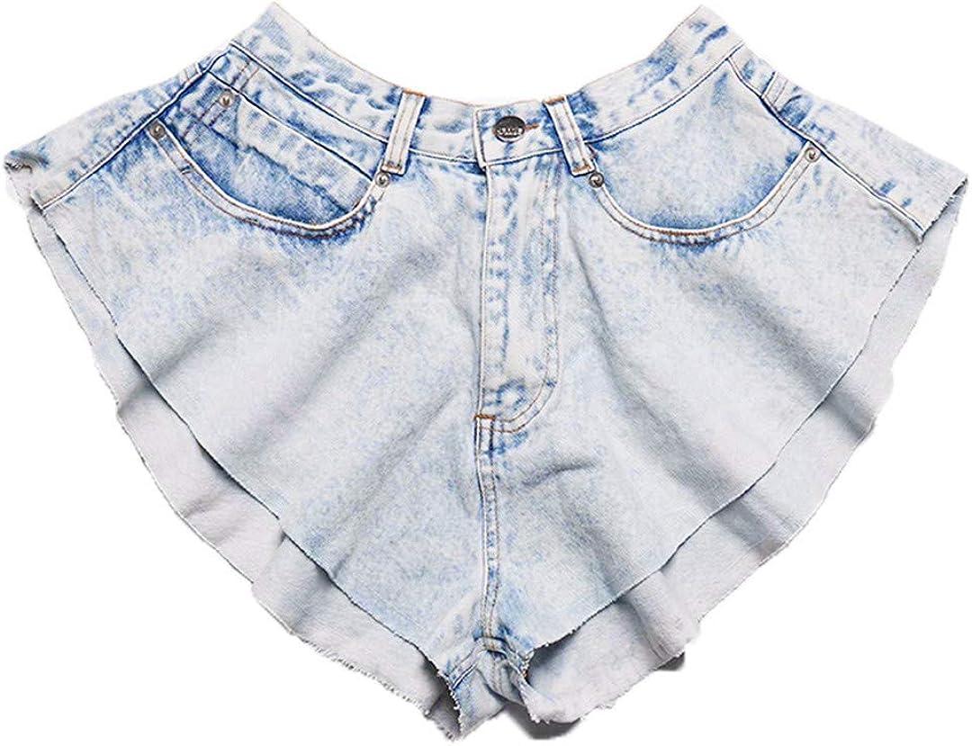 YHK Summer Wide Leg Denim Shorts Women High Waist Shorts Female Casual Denim Shorts