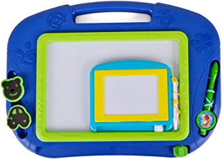 Magnetic Drawing Board Educational Toy - 2 Pieces Erasable Doodle Sketch Writing Board for Toddler Step by Step Learn and Write by Hanmun