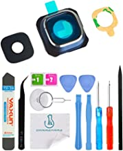 OmniRepairs-Rear Facing Glass Camera Lens Frame Assembly Replacement For Samsung Galaxy S6 SM-G920 with Pre-installed Adhesive and Repair Toolkit (Blue)