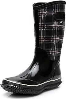 Women's Rubber Neoprene Snow Boots Winter Warm Waterproof Insulated Barn Rain Boots for Ladies