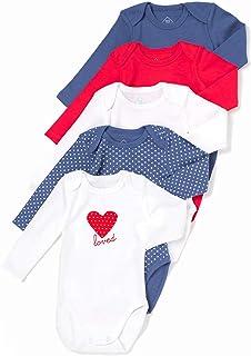 TEX – Confezione da 5 body per bebè, a maniche lunghe, in cotone