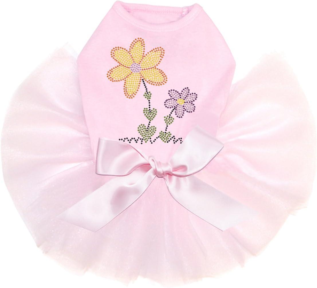 Orange Purple Flowers - Bling Rhinestone Arlington Mall New sales 3XL P Dress Dog Tutu