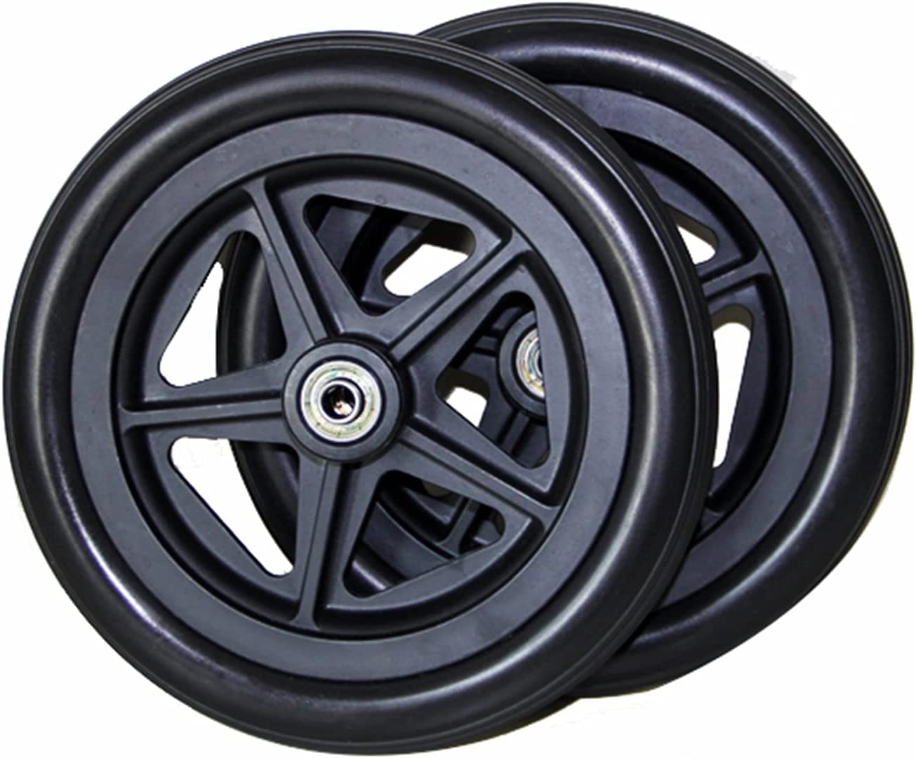 ASDFGHJ Solid Black Caster Wheel, A Pair of Replacement Front Wh
