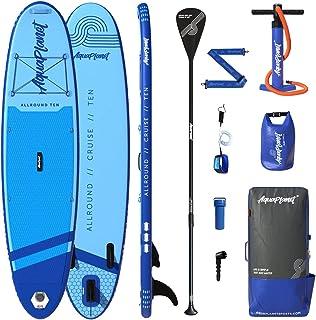 AQUAPLANET 10ft Allround Paddle Board - Beginner's Kit. Air Pump with Pressure Gauge,Adjustable Aluminium Floating Paddle,...