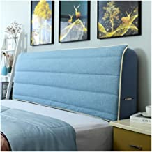 Bed Headboard Cover Elastic All Inclusive Headboard Cover Nordic Solid Healthy Linen Fabric Bed Head Back Protection Dust ...
