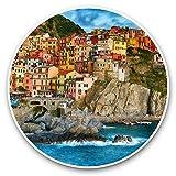 Impresionantes pegatinas de vinilo (juego de 2) 30 cm – Manarola Cinque Terre Italia Divertidas calcomanías para portátiles, tabletas, equipaje, reserva de chatarras, neveras, regalo genial #45661
