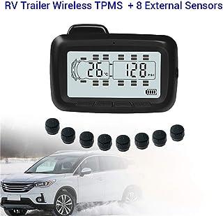 RF Wireless Auto TPMS Tire Pressure Monitoring System, Farb LCD Display Mit Repeater 8 Externer Sensor Für RV Oder Anhänger