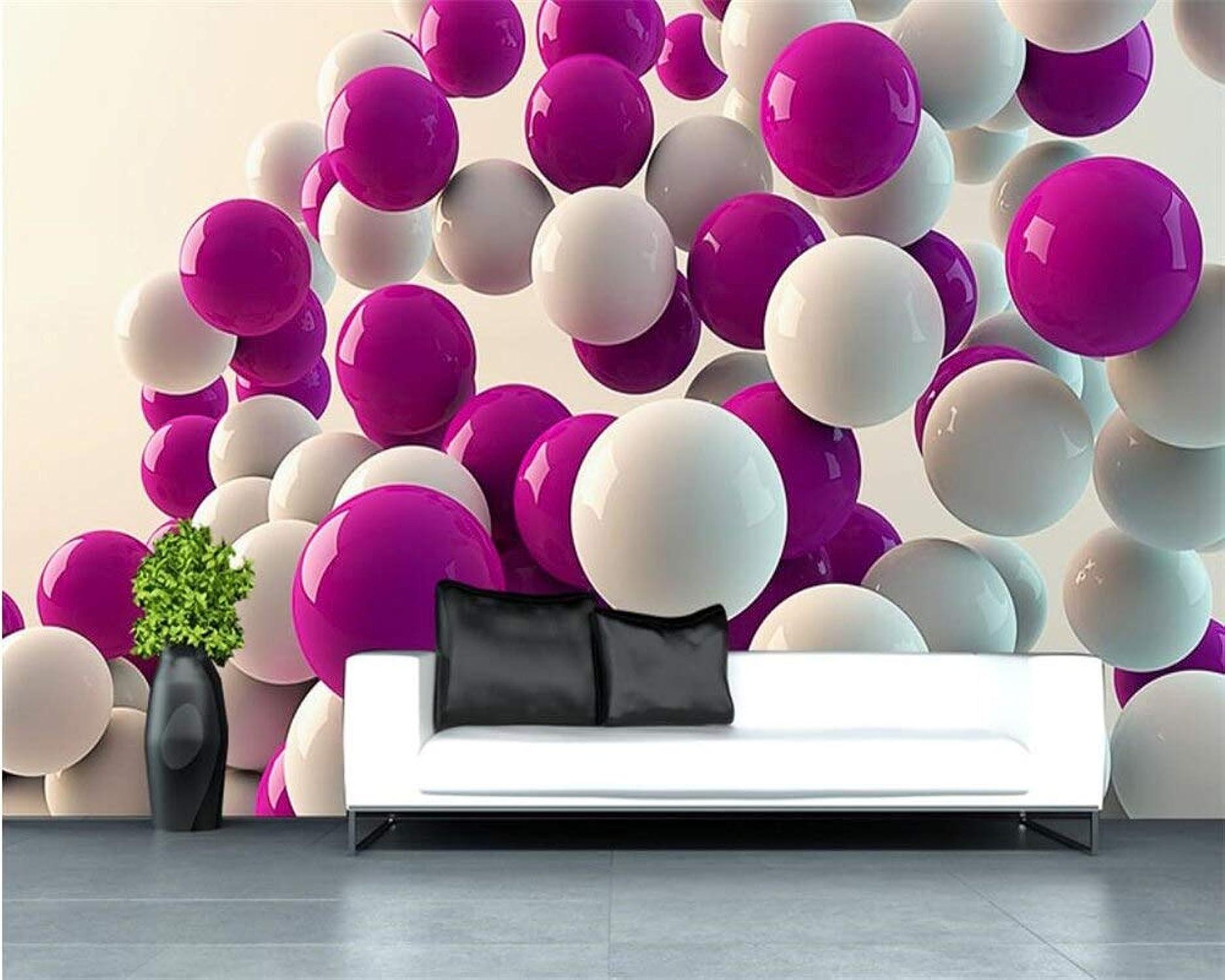 ofrecemos varias marcas famosas 2019 Papel Tapiz Personalizado Decoración Del Hogar Mural Mural Mural Fondo Bola 3D Decoración Del Hogar Sala De Estar Dormitorio Mural Foto Papel Tapiz 3D Vinilo Decorativo-208x146CM  moda clasica