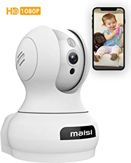 [2015 New Model] MAISI Indoor Wireless Day Night Pan/Tilt Baby Monitor / Surveillance Network IP Camera and MORE (Enhanced Wi-Fi w/ 3dB Antenna HD 1280x720p Mega-Pixels Two Way Talk Built-in Mic & Speaker QR Code Scan & Connect iPhone & Android Mobile View Motion Detection & Push Notification White) [Importado de UK]
