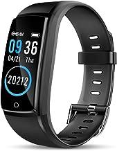 Winkeyes Fitness Tracker Men Women Smart Bracelet Waterproof Smart Wristband Bluetooth Vibration Alarm Clock Step Distance Calorie Counter Blood Pressure Heart Rate Sleep Monitor for iOS Android