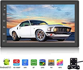 """Android 9.1 Car Stereo Double Din Car Radio with Bluetooth 7"""" Touch Screen Multimedia Player WiFi GPS FM Radio Receiver Un..."""