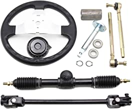 Replacement Go Kart Steering Wheel Kit for 110cc GoKarts Go Karts with Tie Rod and Adjustable Rack