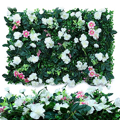 WHAPPY Künstliche Buchsbaumhecke, Kunstgrünwand, Sichtschutz-Heckensieb, UV-geschützte Kunstgrünmatten, Buchsbaumwand, sowohl für den Außenbereich als auch für den Innenbereich geeignet