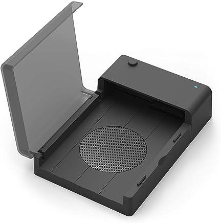 Sabrent USB 3.0A SATA disco duro externo lay-flat estación de acoplamiento con ventilador de refrigeración integrado para 2.5o 3.5in HDD, SSD [compatible con UASP y 6TB] (ec-dffn)