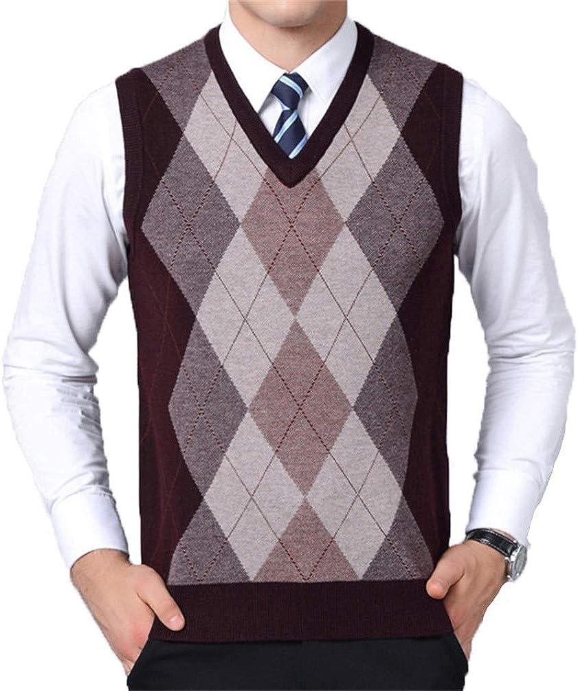 Fashionable ONSEFZMZ Mens Sweater Vest Sleeveless Nippon regular agency Male Knitt Sweaters V Neck