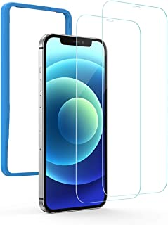UGREEN 2 Pack Screen Protector for iPhone 12 mini 5.4 Inch Tempered Glass Screen Protector Anti-Scratch with Alignment Fra...