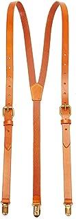 Genuine Leather Suspenders/Groomsman Wedding Suspenders for Wedding & Party