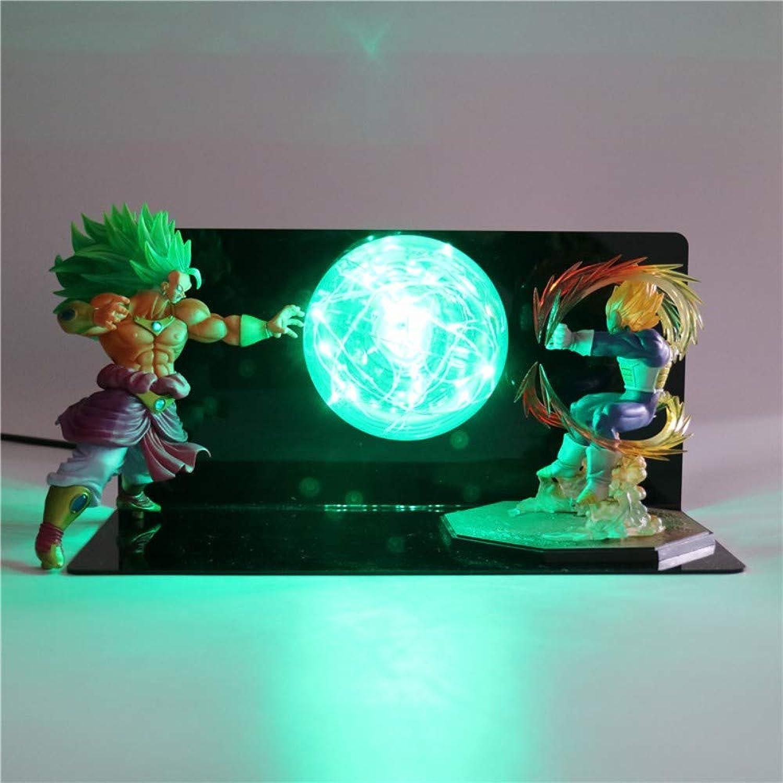 Dragon Ball Super Saiyan Action-figuren Lampe Babypuppen DIY LED Nachtlicht Anime Modell Tischlampe für Kinder Kinder Spielzeug Lichter, 12