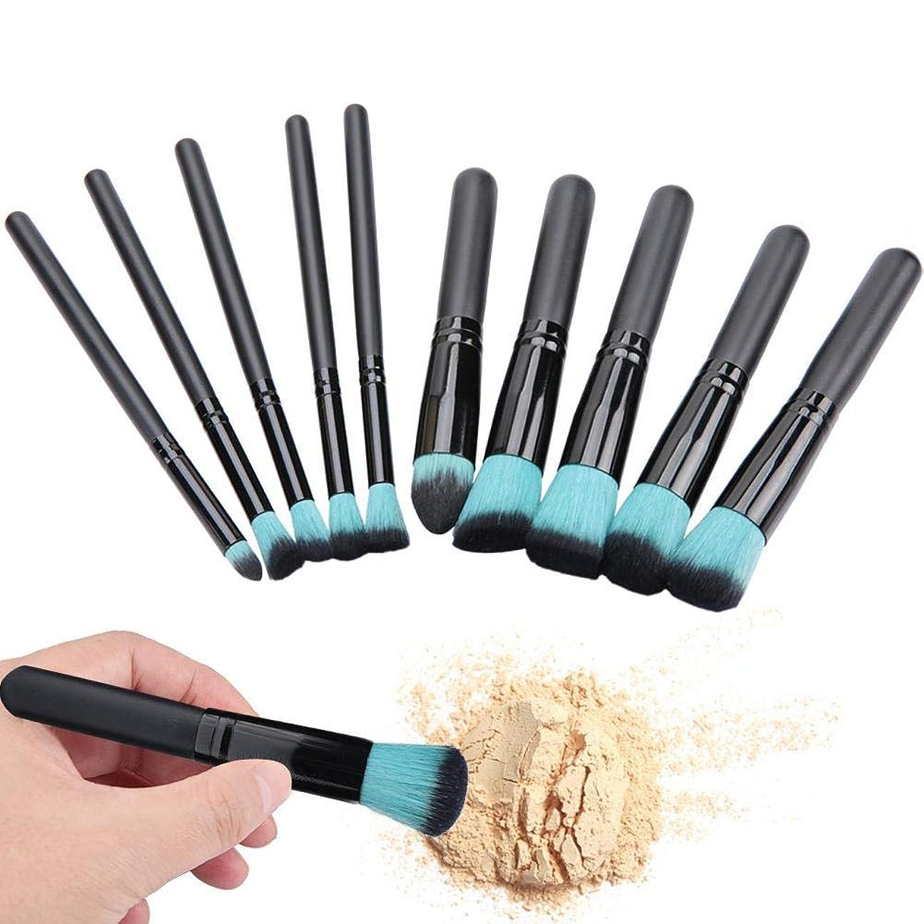 農村クモ暖炉化粧筆セット 5本大きいブラシ 5本小さいブラシ 化粧道具(3#)