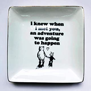 onederful Classic Inspirational Winnie The Pooh Quotes and Saying Ring Jewelry Holder Dish for Sister Friends Girl Daughter Room Bedroom Decor