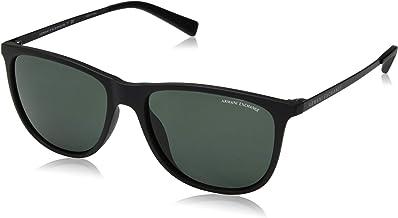A|X Armani Exchange Men`s AX4047SF Square Asian Fit Sunglasses, Matte