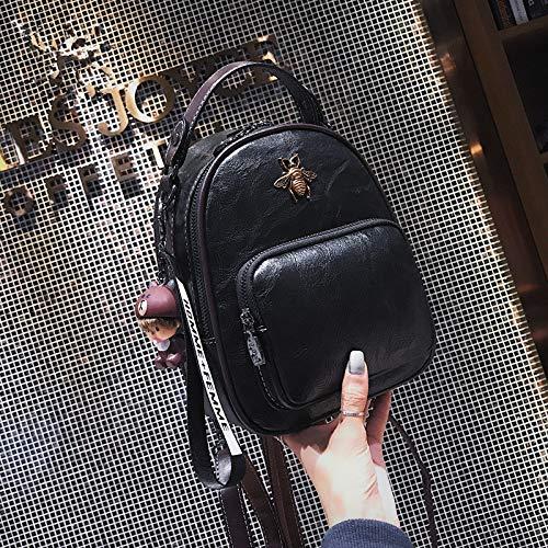 Mode en Vrije tijd College Wind Eenvoudige Rugzak Casual Handtas black
