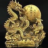 QJL_ANA Latón Dragón y Phoenix Estatua, Yingyang Armonía, Escultura Feng Shui, Matrimonio Auspicioso Wish Regalo de Boda de la decoración del hogar