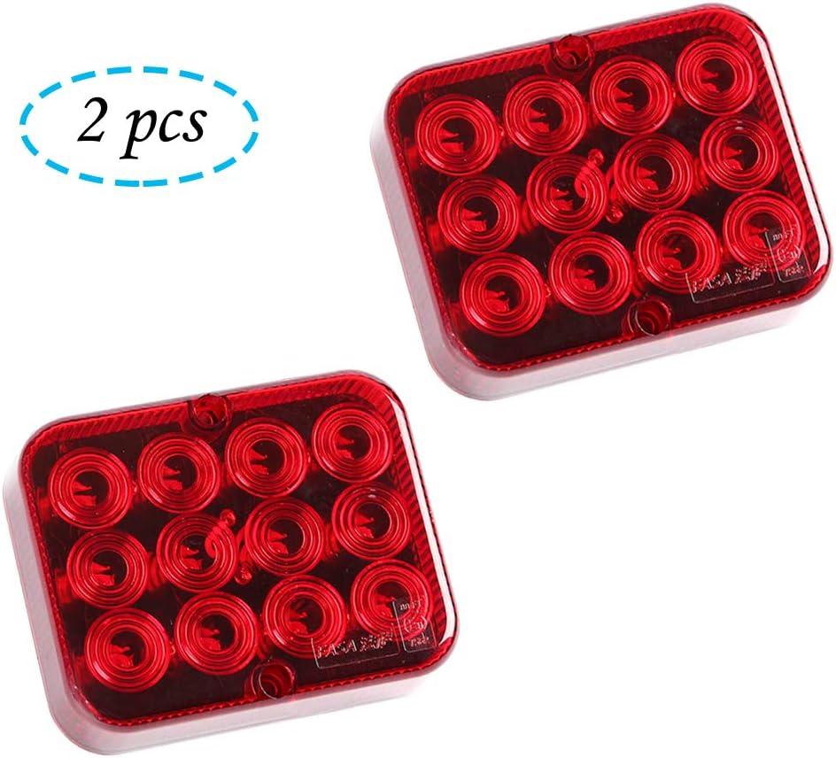 Aohewei 2 X Led Nebelschlussleuchte Für Anhänger Nebelscheinwerfer Rot 12v 24v Nebellampe Wasserdicht Für Auto Anhänger Wohnwagen Lkw Rot Auto