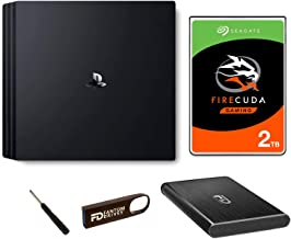 Fantom Drives 2TB PS4 SSHD (Solid State Hybrid Drive/SSD+HDD) Upgrade Kit Pro - Seagate Firecuda - Compatible with Playstation 4, PS4 Slim, and PS4 Pro, 2TB SSHD + FD 16GB