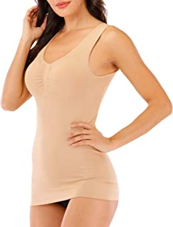 Cami Tank Tops for Women Built in Removable Bra Body Shaper Camisole