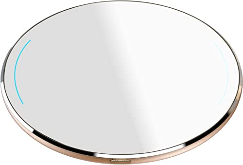 discount TOZO online sale W1 Wireless Charger Thin Aviation Aluminum 2021 Computer Numerical Control Technology Fast Charging Pad Gold (NO AC Adapter) outlet sale