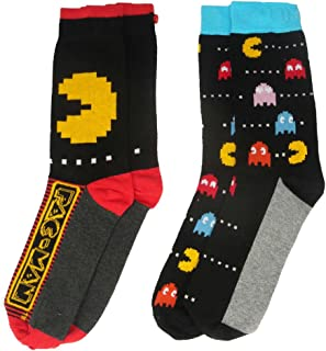 Officially Licensed Men's Pac-Man Assorted Socks 2 Pack